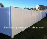 最上質の白いカラープライバシーPVC塀
