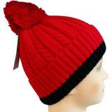 折られたトリムNTD1623が付いている編まれた帽子