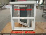 박판으로 만들어진 유리를 가진 PVC 태풍 충격 Windows