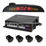 4 Sensores de sinal sonoro Sensores de estacionamento com altifalante monitor LED embutido