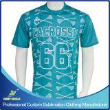 Camisa desportiva Lacrosse para menino de impressão Sublimation personalizada
