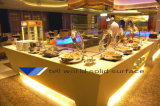Tabella moderna della visualizzazione per la Tabella del contatore della barra del buffet del ristorante dei negozi