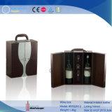 Boîte duelle en cuir à vin d'unité centrale (5592R6)