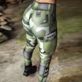 Venda Direta na Europa e América Latina Verde Exército Camouflage Pocket Imprimir Esportes Casual Ioga Perneiras