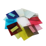 La construcción de la impresión laminado transparente plana de cristal templado de seguridad