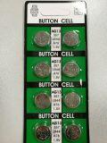 Batterie alkaline de pièce de monnaie de bouton d'AG13/Lr44/L1154 145mAh