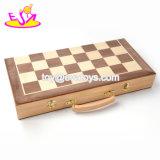 新しく最も熱い屋内折りたたみの子供W11A072のための木の国際的なチェス盤