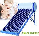 Não coletor solar do sistema de aquecimento de água quente da energia solar de calefator de água da pressão