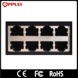 16 canaux de transmission Ethernet RJ45 1000Mbps Poe parafoudre contre les surtensions