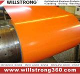 Bobine en aluminium de couleur d'enduit de PE pour la décoration de construction