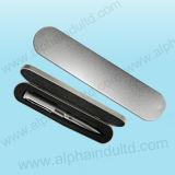En forme de plume Drice Flash USB dans la case d'étain (ALP-001P)