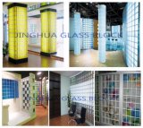 Tijolo de vidro da cor 190X190X80mm de Jinghua/bloco roxos paralelos