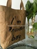 Bolsa de papel lavable del portador de la maneta de la bolsa de papel de Fation que hace compras