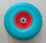 """편평하 자유로운 타이어, PU 거품 외바퀴 손수레 바퀴 10 """" *3.50-4"""