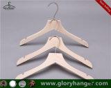 2018 Form-weiße hölzerne Kleidung-Aufhängung für Klage (GLWC301)
