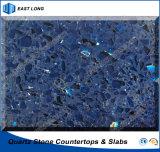 Surface solide de pierre artificielle en gros de quartz pour le matériau de construction avec le GV et les certificats de la CE (couleurs foncées)