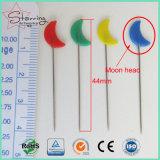 Surtido de colores colcha de la Luna la forma de aguja Aguja de coser Pin como herramienta de coser