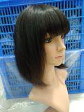 Brevi parrucche nere dei capelli umani del Bob per le donne con le frange