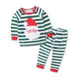 クリスマスの幼児男の子の女の子2PCSのクリスマスのジャンプスーツの衣裳の用品類