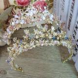 Устраивающих Короны Букет невесты волосы ювелирный кристалл Tiara Princess Crown Свадебные аксессуары для волос волосы ювелирные изделия (EC15)