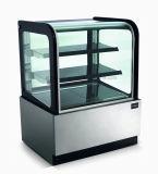 Aço inoxidável refrigerado Mostruário de padaria, Bolo Exibir frigorífico para cafés
