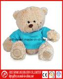 Заполненная игрушка малышей животная плюшевого медвежонка Brown тесемки плюша