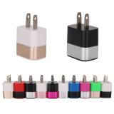 Красочные металлическое кольцо 2.1A два порта USB адаптер зарядного устройства на стене