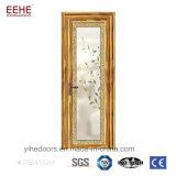Portelli interni di vetro di alluminio della stanza da bagno di vetro glassato dei portelli di buona qualità