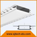 """플랜지를 가진 알루미늄 LED 단면도에 있는 건축 고약은 5/8의 """" 건식 벽체로 중단했다"""