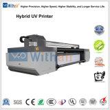 Imprimante UV hybride avec un Km de la tête d'impression512/1024 14PL 1440*1440dpi La résolution et de vernis blanc de l'impression