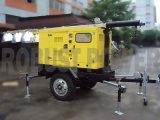 Do gerador móvel da torre de iluminação do áre extensa máquina móvel Cummins Kubota Isuzu Perkins do equipamento de planta da torre clara