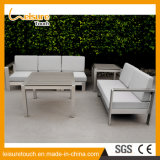 Silla moderna del ocio del metal y muebles al aire libre de aluminio del jardín de los diseños determinados del sofá de Polywood del vector