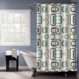 PEVA de plástico resistente al moho cortina de ducha impreso para el hogar moderno