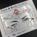 2018 Hongkong Topacio piel ojos Sticker adhesivo acrílico cristal gema pegatinas cara Diamante (E46).
