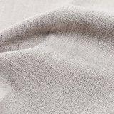 Tela tejida poliester falso bicolor del lino 100%