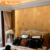 中国の壁紙の工場室内装飾のための金金属ホイルの壁ペーパー