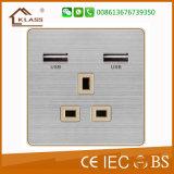 Satélite eléctrico de la pared estándar BRITÁNICA y socket de la TV