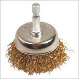 """spazzola della tazza del filo di acciaio dei 2 """" (di 50mm) accessori degli attrezzi a motore con la tibia"""