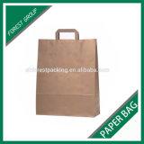 Bolsa de papel de empaquetado impresa aduana de las compras de Kraft