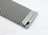 Milanese sólidos de acero inoxidable de 0,6 Watchband de malla de alambre para Fitbit Blaze doble cierre con broche de seguridad CORREA DE RELOJ