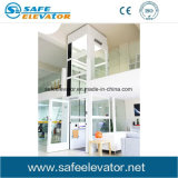 Levage en verre de villa de bâti d'intérieur d'acier inoxydable