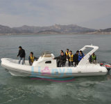 Yacht gonflable rigide de bateau de côte de l'Europe Hypalon de bateau de Liya 8.3m