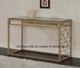 花フレームデザイン金カラーコーヒーテーブル