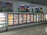 Große Kapazitäts-Handelskühlraum-Schaukasten 5 Glas-Tür