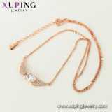 44452 Color oro rosa de moda joyas Collar Colgante clave de circón