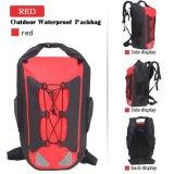 Packbag asciutto impermeabile esterno rosso per canottaggio, da pesca trasportare o immersione