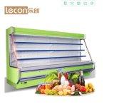 Tipo vertical popular refrigerador de la capacidad grande de la visualización de la fruta y verdura
