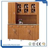 フランス様式のキャビネットデザイン3ドアの贅沢な食器棚