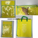 Bolso transparente del almacenaje del libro de la bolsa del documento del fichero del paisaje del retrato del PVC