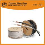 Cable coaxial de cobre del aislante RG6 de Fpe del conductor con el cable de transmisión de dos CCA para las cámaras de televisión